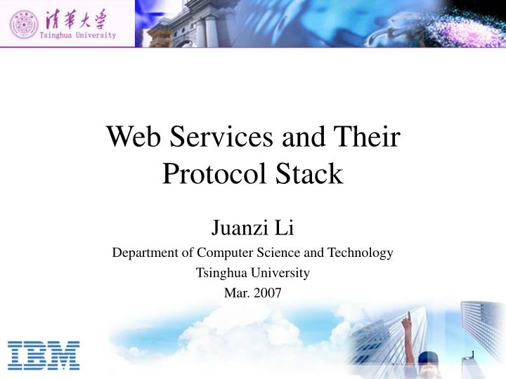web services and their protocol stack n.