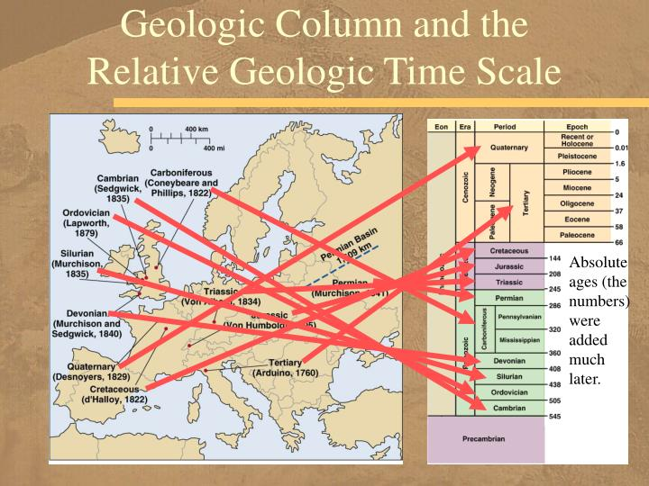 Geologic Column and the Relative Geologic Time Scale