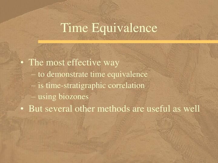 Time Equivalence