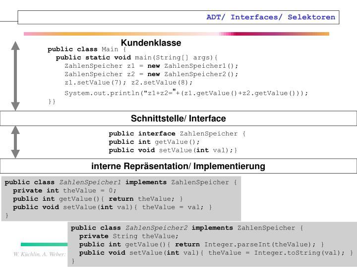 ADT/ Interfaces/ Selektoren
