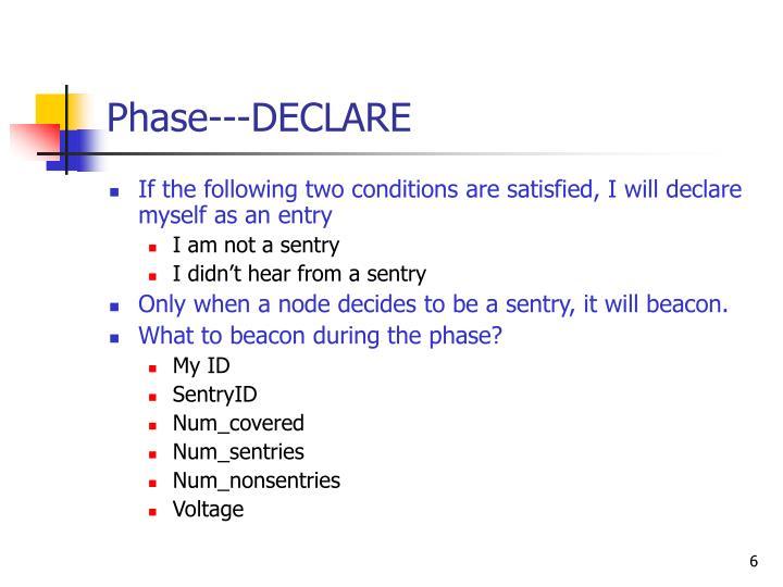 Phase---DECLARE