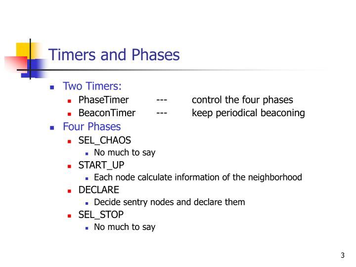 Timers and phases