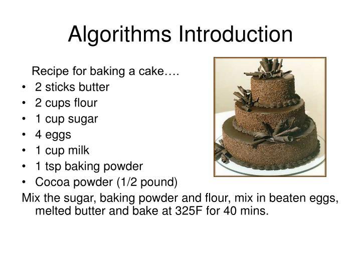 Algorithms Introduction