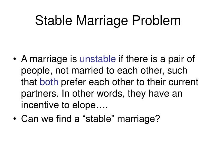 Stable Marriage Problem