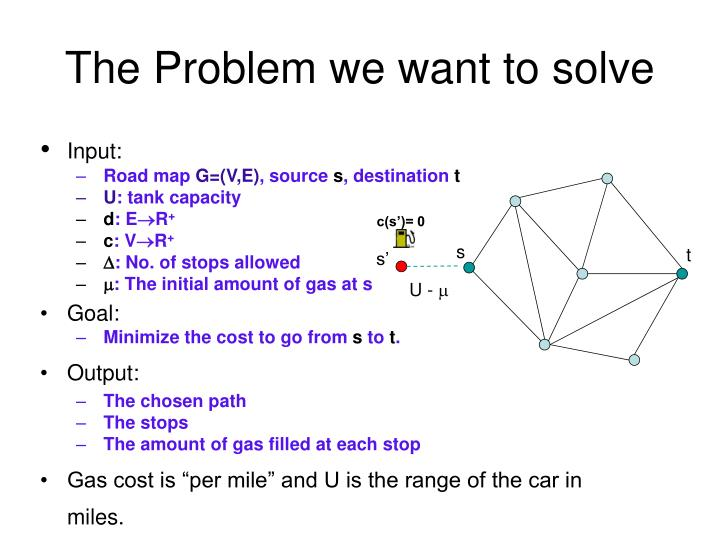 The Problem we want to solve