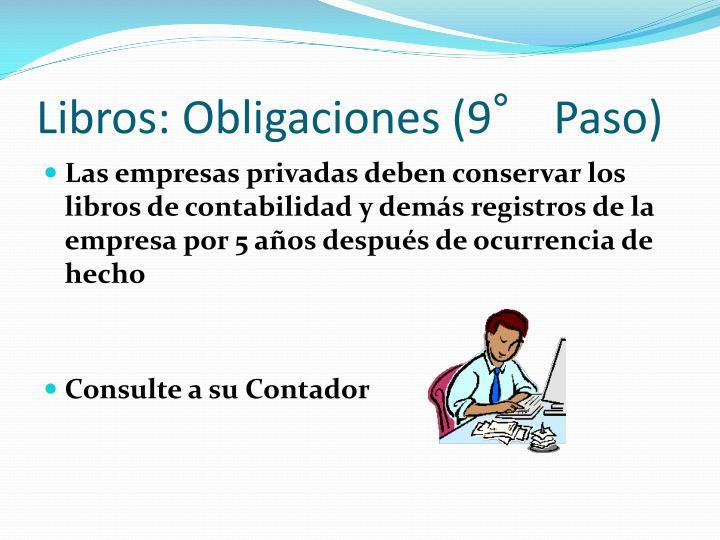Libros: Obligaciones (9° Paso)