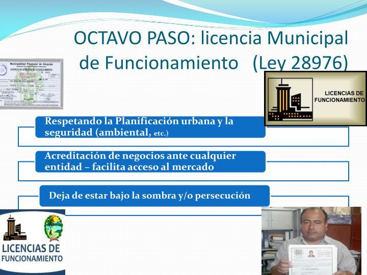 OCTAVO PASO: licencia Municipal