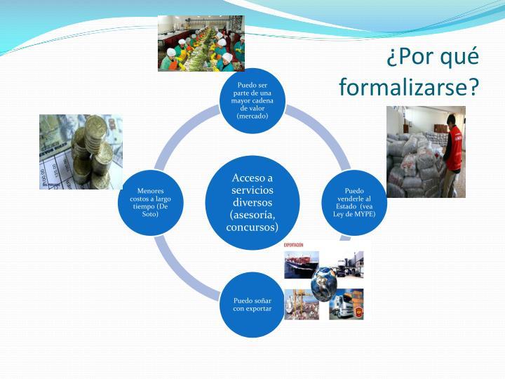 Por qu formalizarse