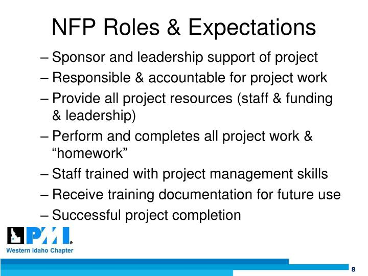 NFP Roles & Expectations