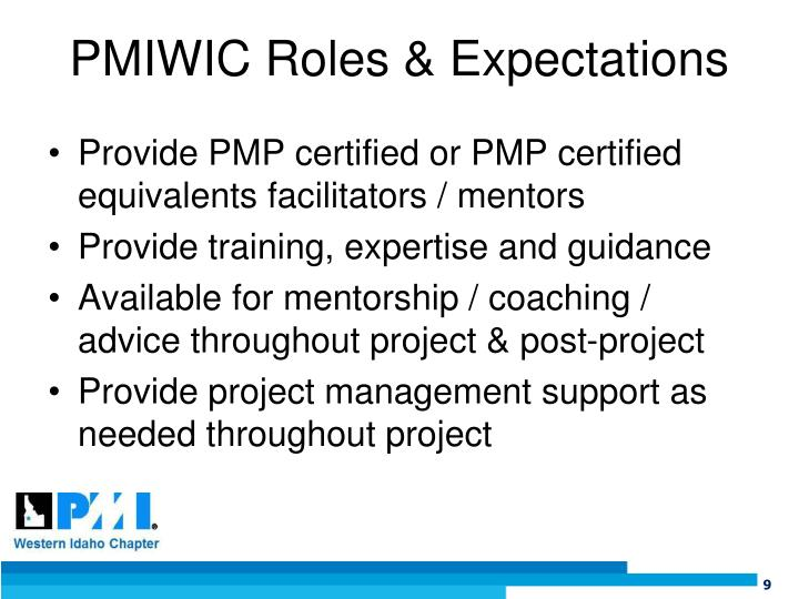 PMIWIC Roles & Expectations