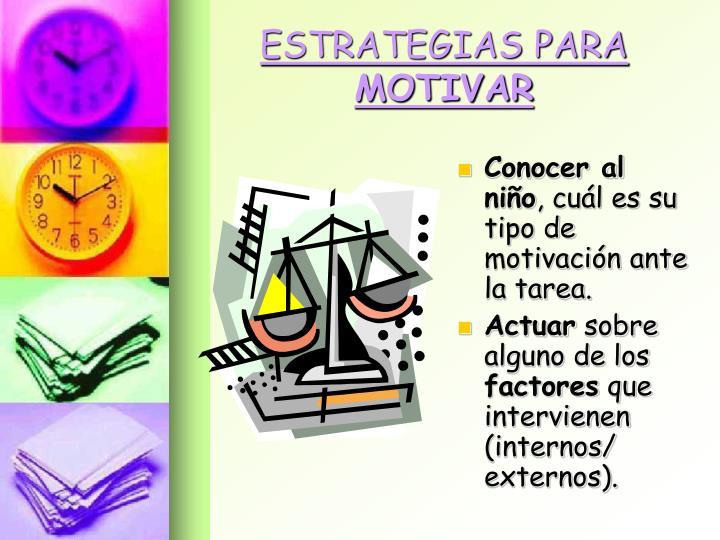 ESTRATEGIAS PARA