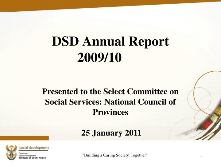 dsd annual report 2009 10 n.