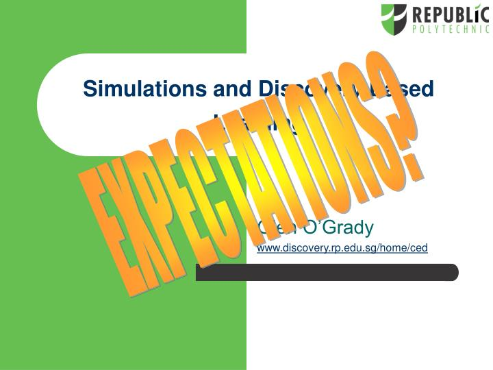 simulations and discovery based learning n.