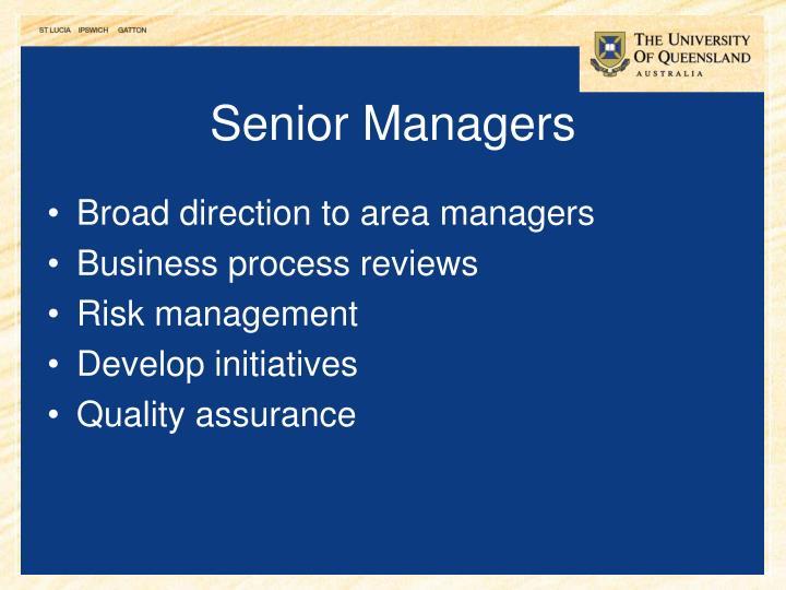 Senior Managers