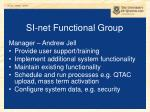 si net functional group