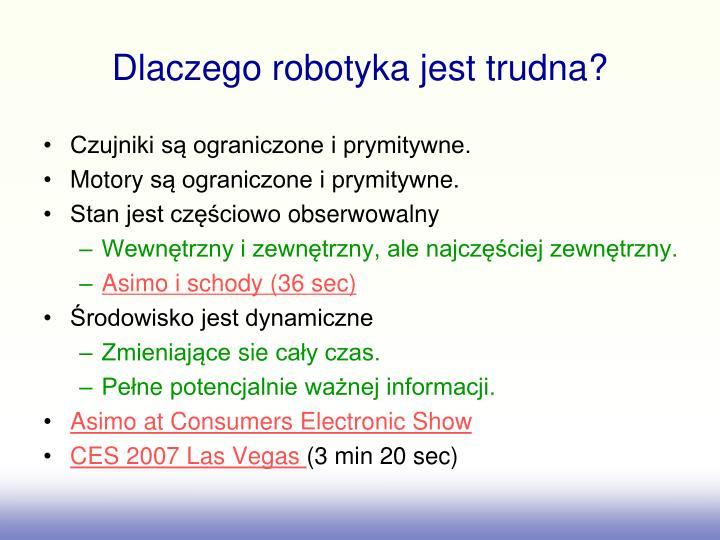 Dlaczego robotyka jest trudna