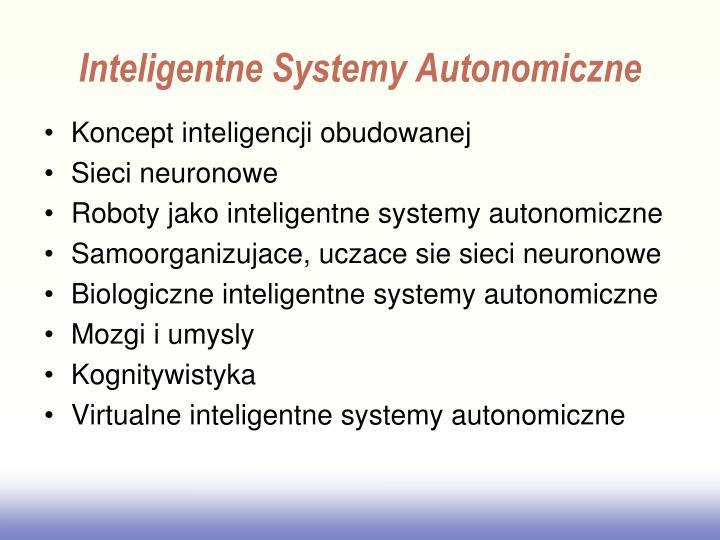 Inteligentne systemy autonomiczne