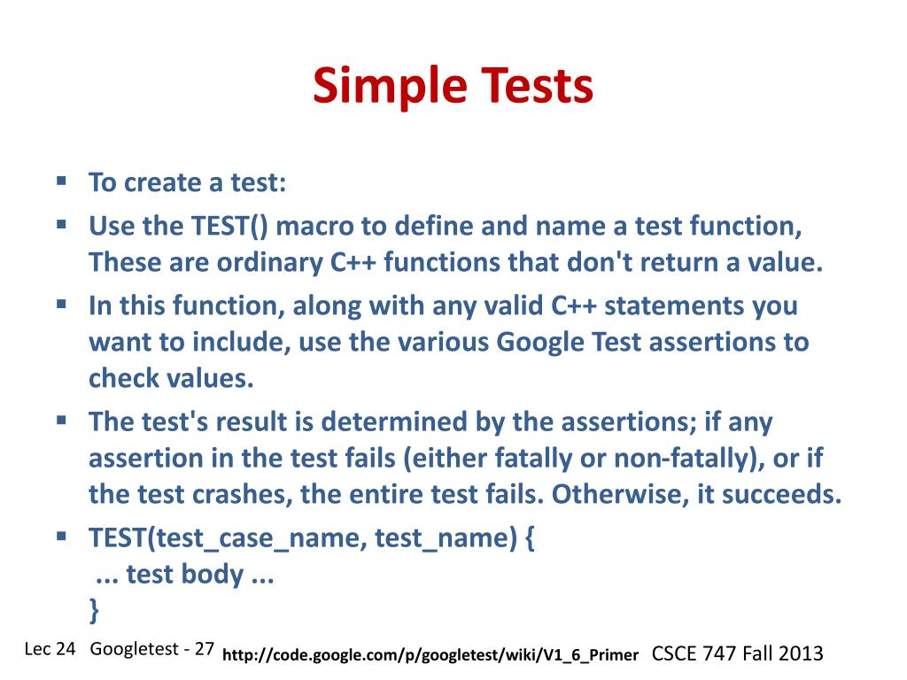 PPT - CSCE 747 Software Testing and Quality Assurance