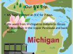 our r v trip