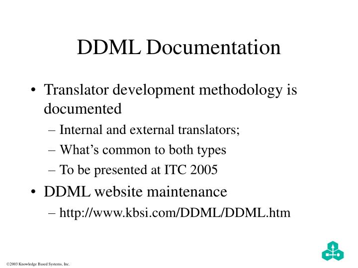 DDML Documentation
