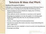 solutions ideas that work