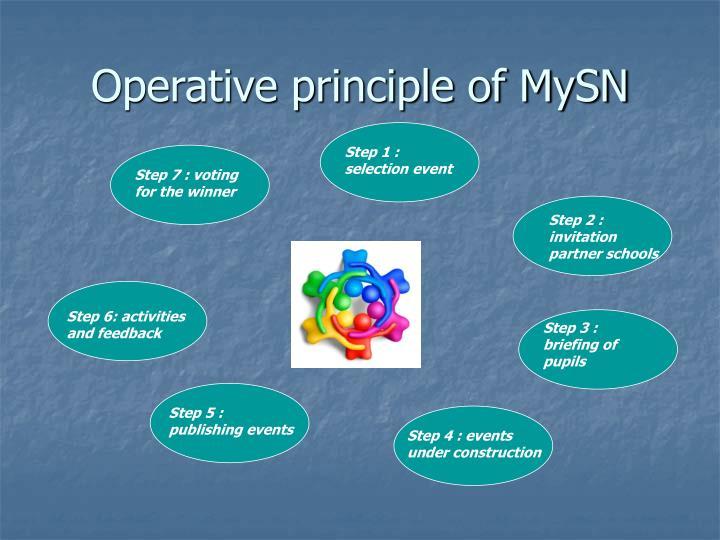 Operative principle of MySN