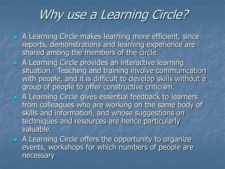 Why use a Learning Circle?