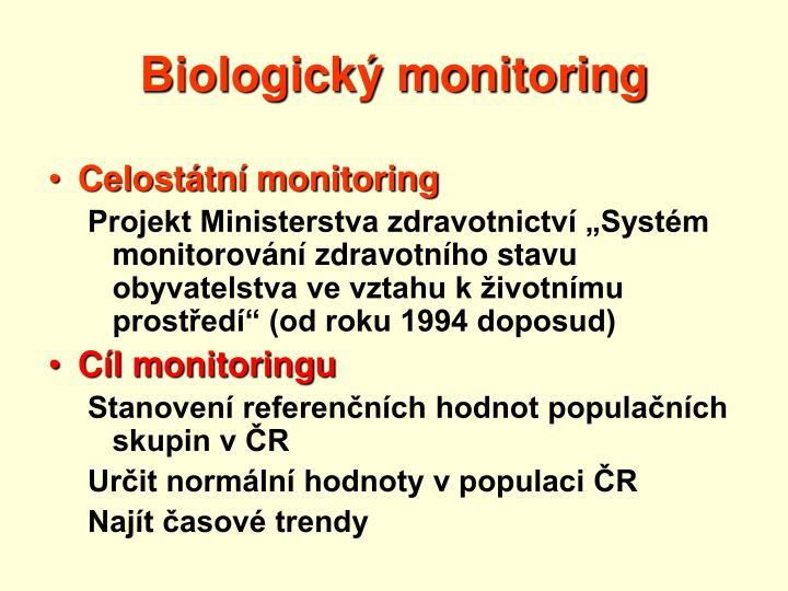 Biologick monitoring