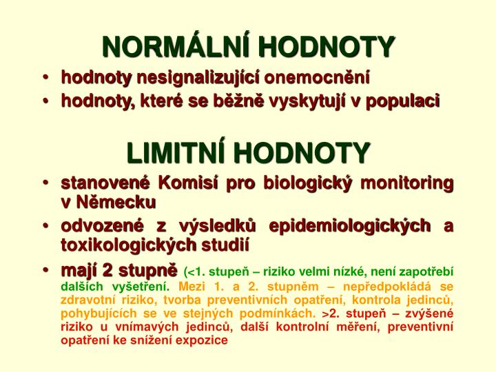 NORMÁLNÍ HODNOTY
