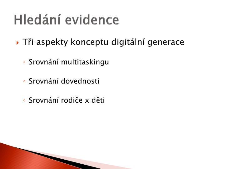 Hledání evidence