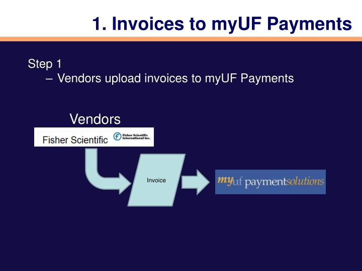 1. Invoices to myUF Payments