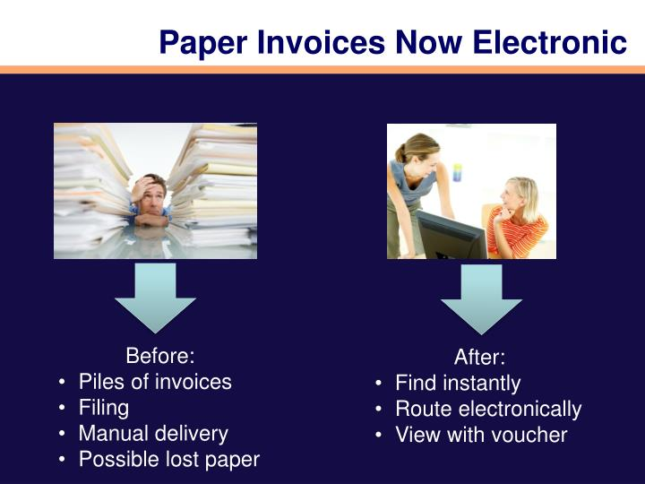 Paper Invoices Now Electronic
