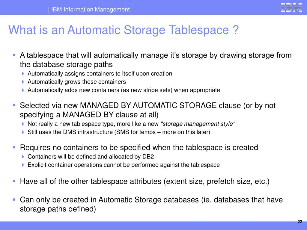 PPT - DB2 Automatic Storage The Future of Storage Management