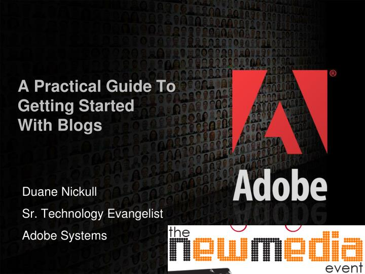 A practical guide to getting started with blogs