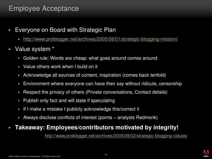 Employee Acceptance