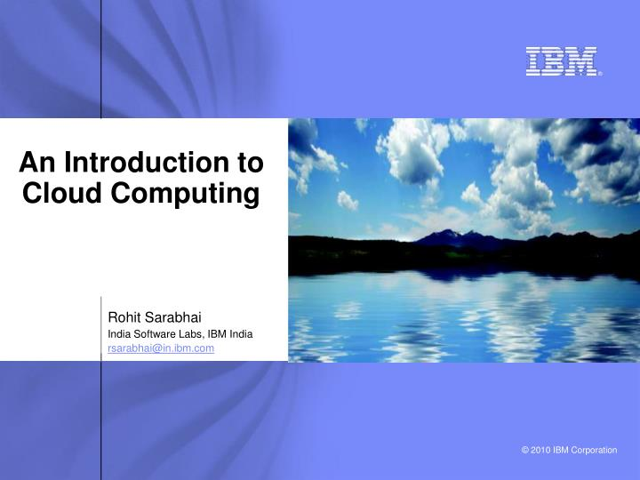an introduction to cloud computing n.