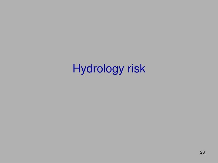 Hydrology risk