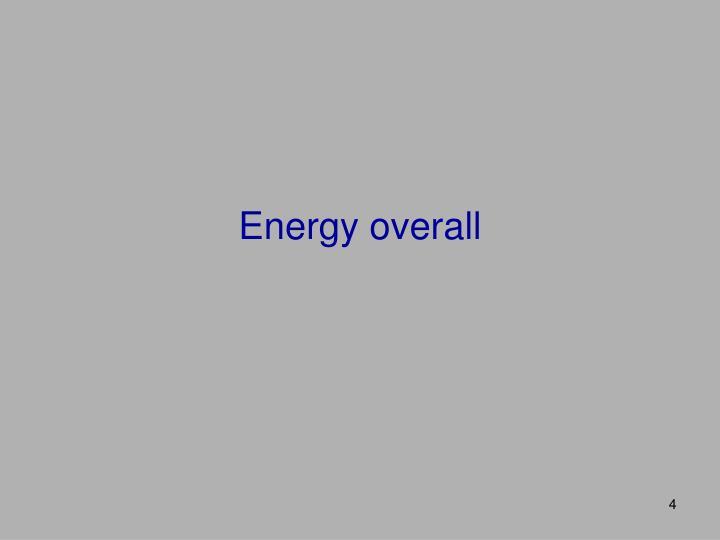 Energy overall