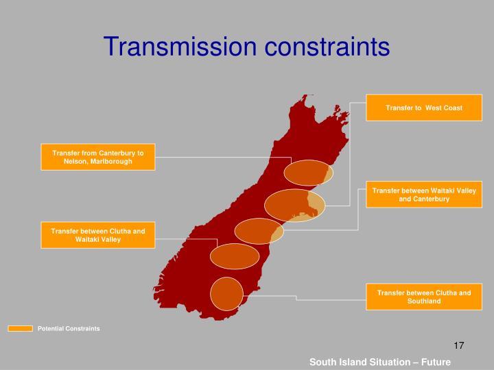 Transmission constraints