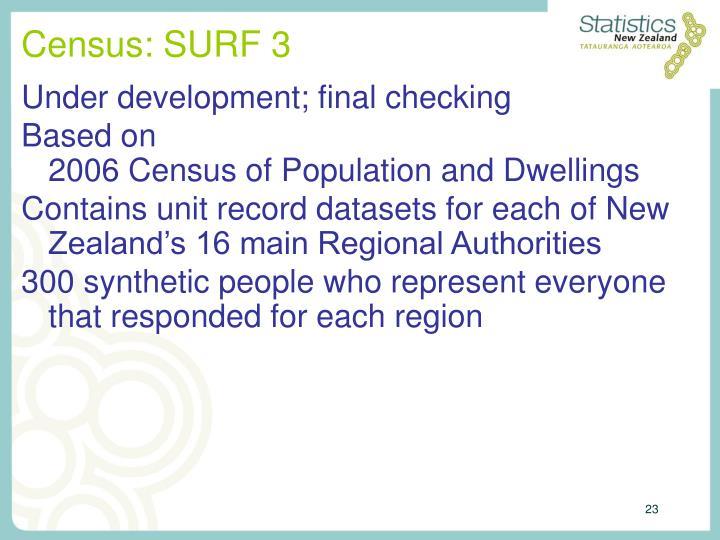 Census: SURF 3
