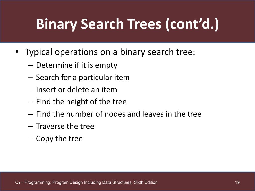PPT - Chapter 19: Binary Trees PowerPoint Presentation - ID