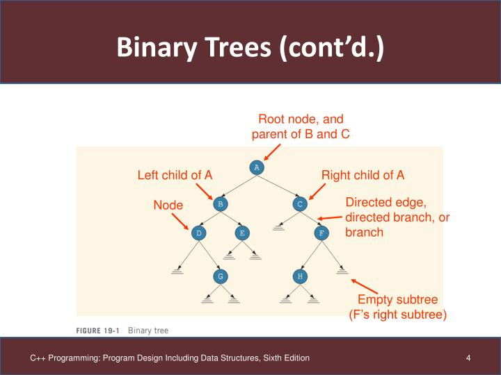 Binary Trees (cont'd.)