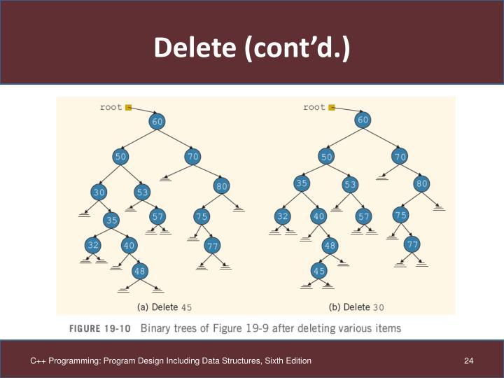 Delete (cont'd.)