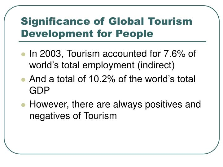 positives of tourism