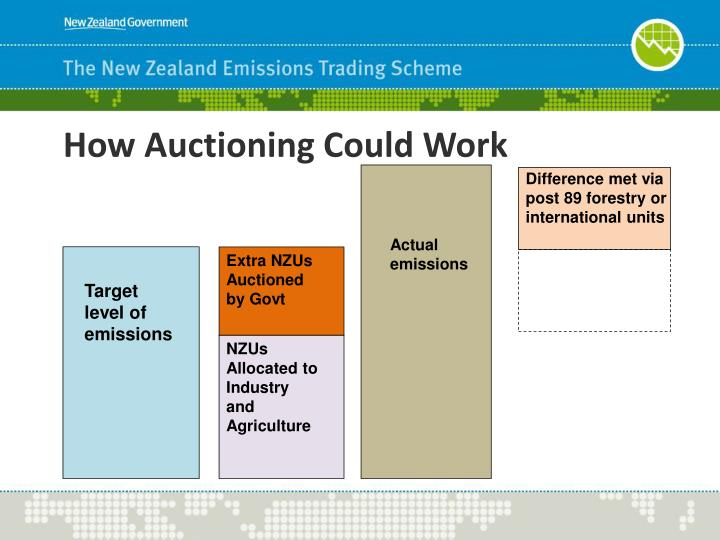 How Auctioning Could Work