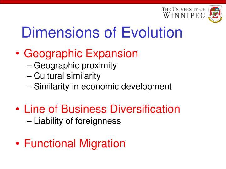 Dimensions of evolution