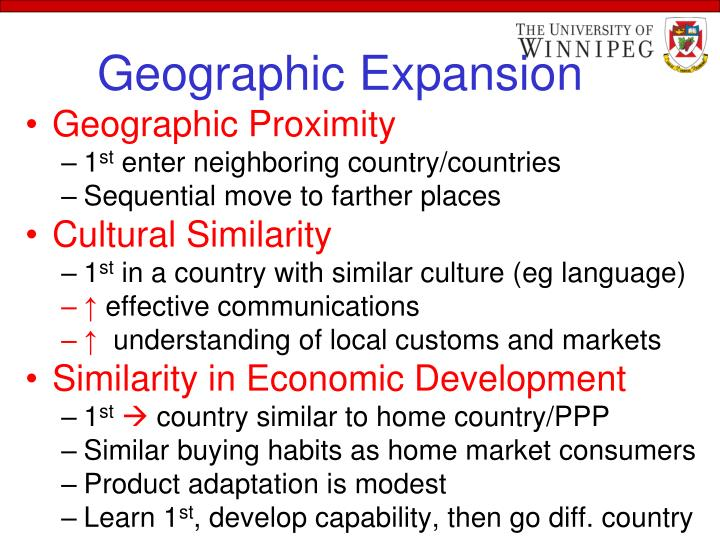 Geographic Expansion