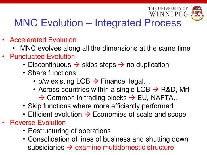 MNC Evolution – Integrated Process