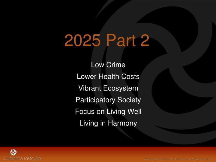 2025 Part 2