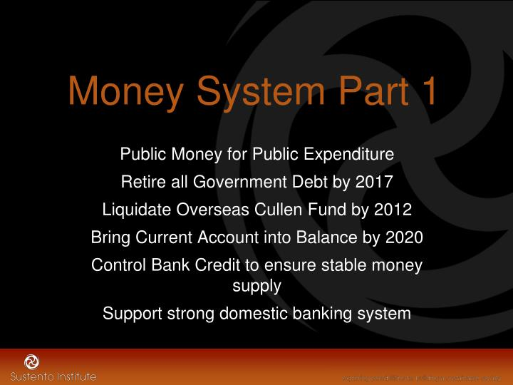 Money System Part 1